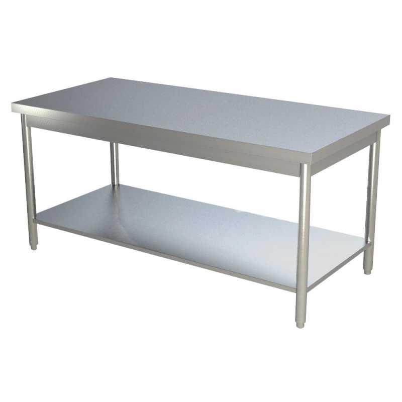 Table Étagère Basse Inox Centrale L2000xp600xh850mm Avec ED92YeWHIb