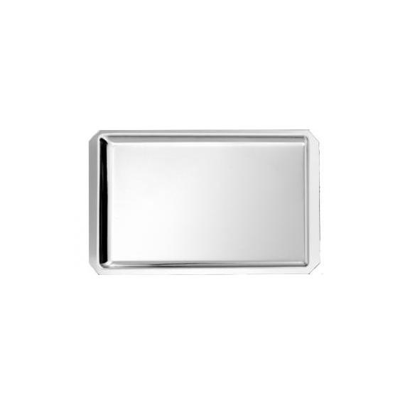 B12- Plat de vitrine à pans coupés 42 x 27 cm