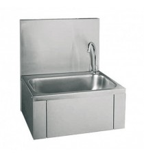 Lave-mains Inox avec panneau basculant