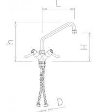 Robinet giratoire deux eaux modèle 1/4 de tour