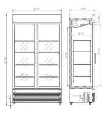 Armoire à boisson 2 portes pivotantes vitrées