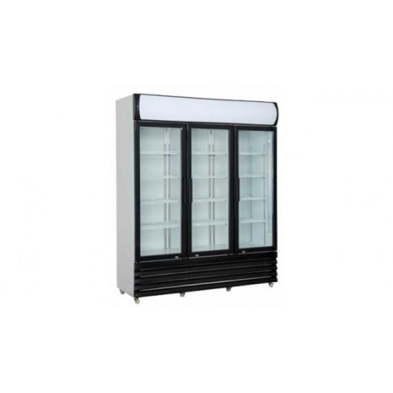 Armoire à boisson 3 portes pivotantes vitrées 1065L